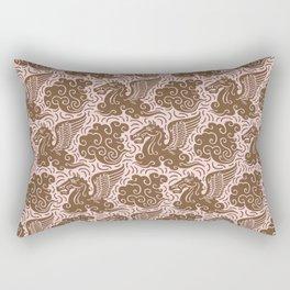 Pegasus Pattern Dusty Rose and Brown Rectangular Pillow