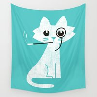 budi Wall Tapestries featuring Mark - Aristo-Cat by Picomodi