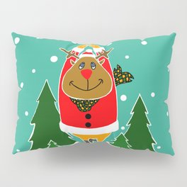 Christmas Deer Practicing Yoga Pillow Sham