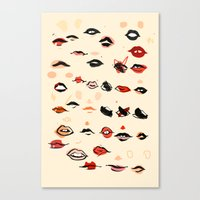 lips Canvas Prints featuring Lips by Visualcrafter