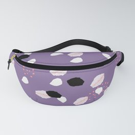 Hand painted ultra violet pink blue brushstrokes dots Fanny Pack