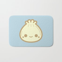 Yummy cute steamed bun Bath Mat