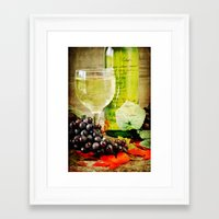 wine Framed Art Prints featuring Wine by ThePhotoGuyDarren