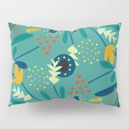 Floral dance in blue Pillow Sham