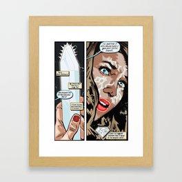 Miss White Kryptonite - Discovery Framed Art Print