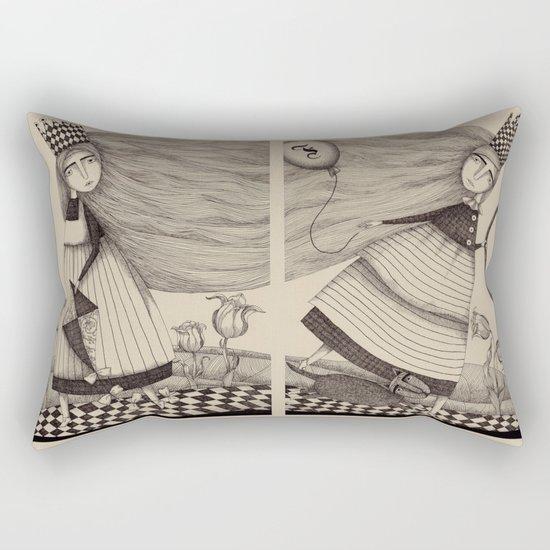 The Tulip Garden (1) Rectangular Pillow