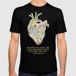 A Traveler's Heart + Quote T-shirt
