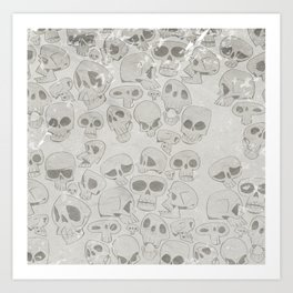 Skulls Pattern Art Print