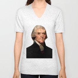 Thomas Jefferson Unisex V-Neck