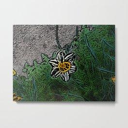 Surreal White Daisy  Metal Print