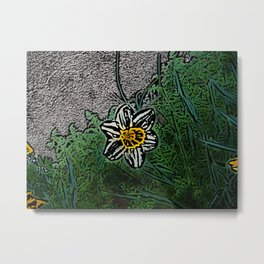 Surreal White Daisy  Metal Print