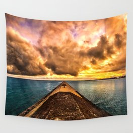 Sunset Clouds Over Lake Superior Wall Tapestry