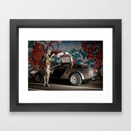 Mandalorian Delorean 3 - Bobba Fett, Bounty Hunter Framed Art Print