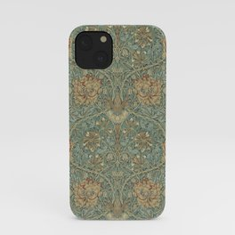 William Morris Vintage Honeysuckle & Tulip Green Privet Honeycomb Floral iPhone Case