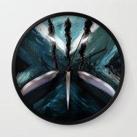x men Wall Clocks featuring Mutant Canvas....X-Men by Emiliano Morciano (Ateyo)