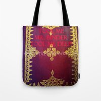 tool Tote Bags featuring Tool Me by Jrr Bookworks