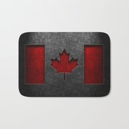 Canadian Flag Stone Texture Bath Mat