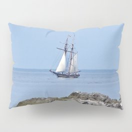 Tall ship Sailing by the point Pillow Sham