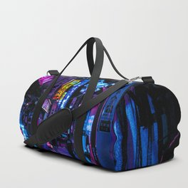 Tokyo's Moody Blue Vibes Duffle Bag