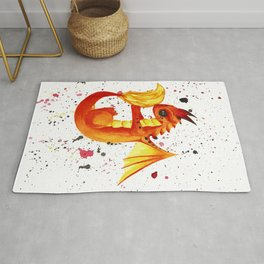 Red Fire Dragon Rug