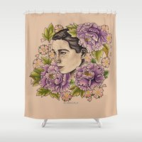 bjork Shower Curtains featuring Bjork by alxbngala