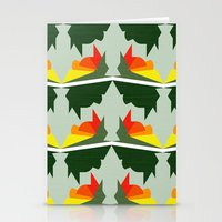 ships Stationery Cards featuring Burning Ships by Mimi