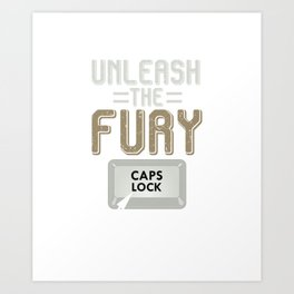 Funny Caps Lock Keyboard Art Print