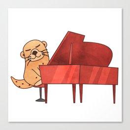 Sweet Otter Piano Piano Kids Music Gift Canvas Print