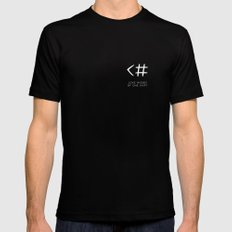 Love typo LARGE Black Mens Fitted Tee