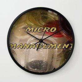 """Micro Management"" Wall Clock"