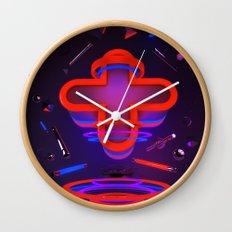 Rouge et Bleu Wall Clock