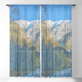 Mountain Path // Rocky Mountains Colorado Landscape Photography Amazing Shots at Sunrise Sheer Curtain