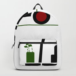 Funny Golf Shirt Drinking Beer In Golf Cart Tee T-Shirt Backpack