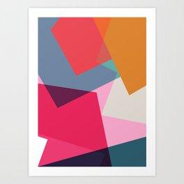 Geometric Abstract 01 Art Print