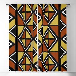 Big mud cloth tiles Blackout Curtain