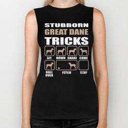 Stubborn Great Dane Tricks design Biker Tank