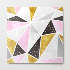 Abstract triangle textures Metal Print