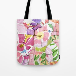Mosaic Watercolour Tote Bag