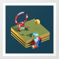 Much Ado in Candyland Art Print