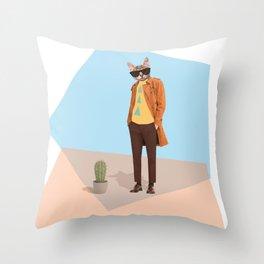 Mr Catcus Throw Pillow