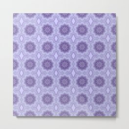 Pretty Floral in Lavender Metal Print
