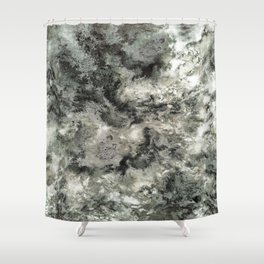 Dragged Shower Curtain