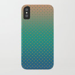 Polka Plankton Blue iPhone Case