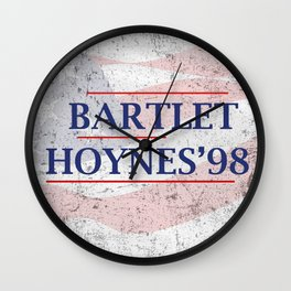 Bartlet and Hoynes '98 Wall Clock