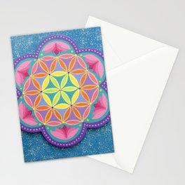 Colourful Flower of Life Mandala Stationery Cards