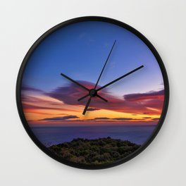 Lenticular Cloud Red Sunset Photographic Landscape Wall Clock