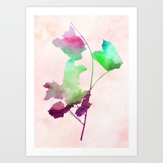 maple 2 watercolor by Jacqueline Madonado & Garima Dhawan Art Print