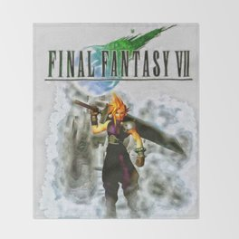 Cloud Strife Final Fantasy 7 Throw Blanket