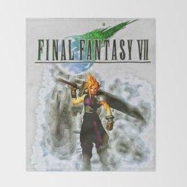 Cloud Strife Final Fantasy 7 Throw Blanket