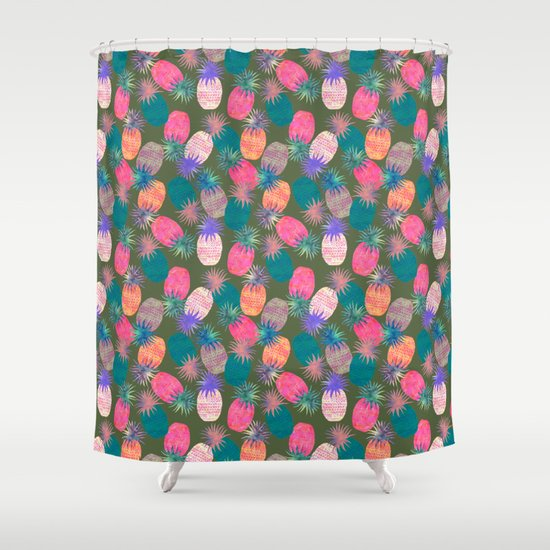 Pina Colada Bright Shower Curtain
